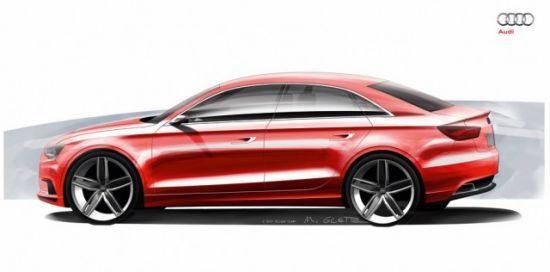 奥迪a3概念车设计图曝光,日内瓦车展首发