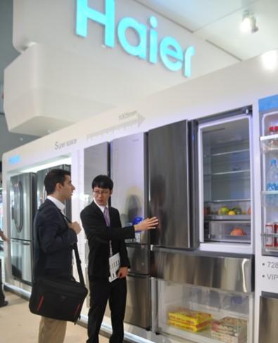 2013秋季广交会:海尔展出世界最宽最节能法式大冰箱