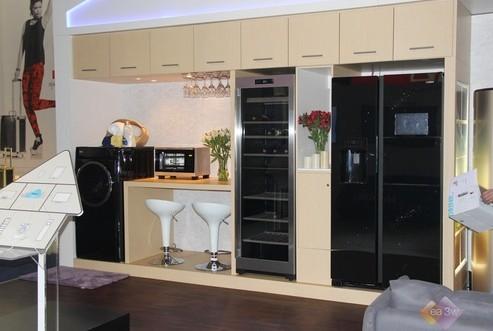 欧式冰箱酒柜效果图